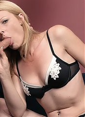 Isadora joins her hubby on the couch and gives him a blowjob before taking a cock balls deep