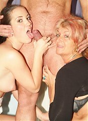 Naughty mature wife Joanna Depp invites a younger woman into her home to share her husband
